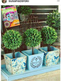 Foto Transfer, Painted Flower Pots, Bonsai Art, Decoupage Vintage, Vintage Kitchen Decor, Vintage Flowers, Design Crafts, Diy Crafts To Sell, Flower Decorations
