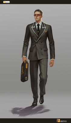 ArtStation - the support team, puz lee Mafia, Gangsters, Cthulhu, Character Concept, Character Art, Concept Art, Character Outfits, Science Fiction, Cyberpunk 2020