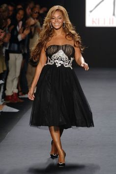 19 celebrities who have walked the catwalk: Beyonce for Naomi Campbell's Fashion for Relief, 2005.