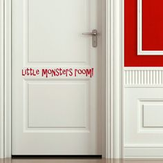 Monsters Room Kids Quote Wall Stickers / Wall by WallStickersExtra, £19.99