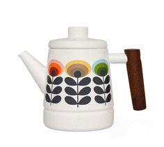 Orla Kiely | UK | house | Cooking & Dining | Enamel Teapot (0KENSFL520) | multi