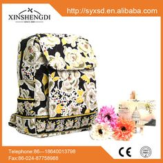 RE007 Best Selling Quilted 100% cotton backpack manufacturers china