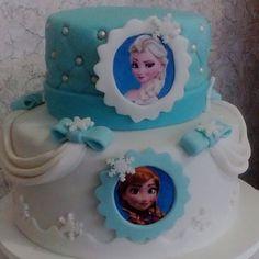 Bolo Frozen ❄️❄️❄️ #girliecake #cake #confeitaria #pastaamericana #bolo #frozen