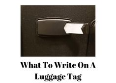 There has been some talk about what to write on a luggage tag and also what not to write on a luggage tag. In this short article we'll discuss what information Short Article, Things To Think About, Travel Tips, Writing, Tags, People, Travel Advice, Folk, Writing Process