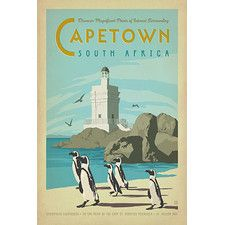 "Anderson Design Group ""Capetown, South Africa"" Vintage Advertisement on Canvas"