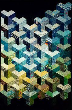 half hexagon quilt - Google Search. Inner city. Trefoil. Half-hexagons. Half-hex. Y seam. Tumbling block.