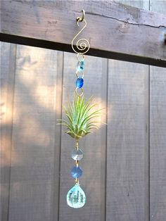 Ocean Blue Ornament- Unique Gift Multi Colored Air Plant Ornament Gifts For Her Gifts under 20. $13.00, via Etsy.