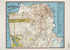 San Francisco Points of Interest Map Wrapping Paper