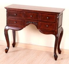 Queen Ann Hand Carved Wood 5-Drawer Hall Table For Sale https://bestsofatablereviews.info/queen-ann-hand-carved-wood-5-drawer-hall-table-for-sale/