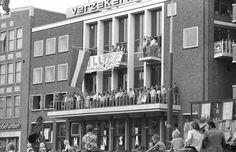 Grote Markt Groningen Vindicat gebouw 1977