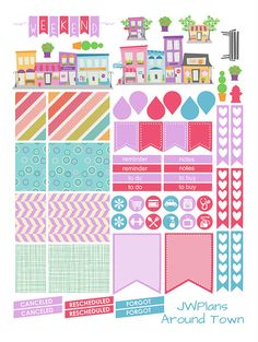 PRINTABLE! Erin Condren Planner Around Town Weekly Kit