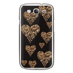 Samsung Galaxy / LG / HTC / Nexus Phone Case - Sparkly golden hearts ($35) ❤ liked on Polyvore featuring accessories, tech accessories and android case