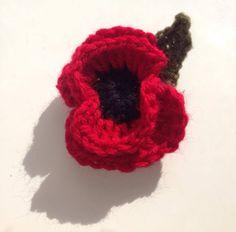 Beautiful crochet poppy x