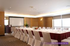 Boardroom Setup at the Hillary Function Room, 6th Floor of Quest Hotel Cebu