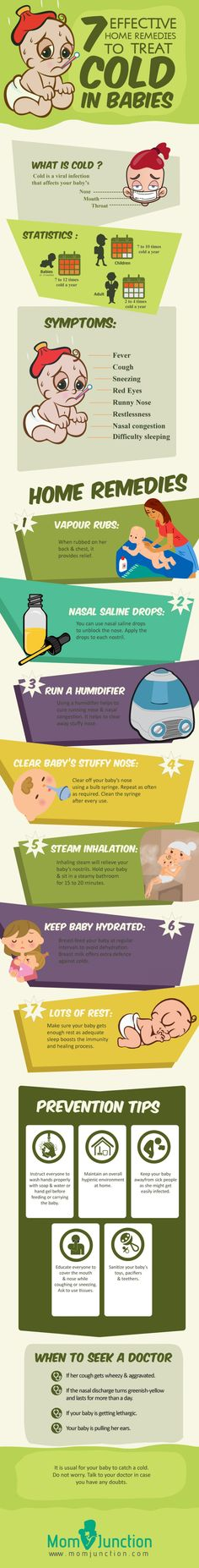 Home remedies for cold in babies #infographic