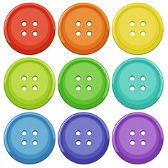 Set of colourful button Royalty Free Vector Image Activities For 2 Year Olds, Creative Activities For Kids, Toddler Learning Activities, Montessori Activities, Math For Kids, Lessons For Kids, Learning Centers, Kids Learning, Shape Posters