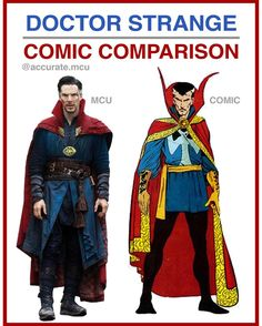 "5,728 curtidas, 57 comentários - • Accurate.MCU • mcu fanpage (@accurate.mcu) no Instagram: ""• DOCTOR STRANGE - COMIC COMPARISON•  I really love the mcu costume, Before the suit was spotted on…"""