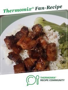 Recipe Sticky Pork Belly by learn to make this recipe easily in your kitchen machine and discover other Thermomix recipes in Main dishes - meat. Lamb Recipes, Meat Recipes, Asian Recipes, Dinner Recipes, Cooking Recipes, Savoury Recipes, Dinner Ideas, Sticky Pork, Thermomix