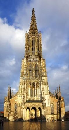Ulm Muenster - Germany. Wow! Not positive, think this is the church my mom has a mini of. I've looked for this church many times.