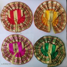 Pooja Needs Stylish Silk Laddu Gopal Poshak Pack: Multipack Product Length: 4 Inch Product Breadth: 4 Inch Country of Origin: India Sizes Available: Free Size *Proof of Safe Delivery! Click to know on Safety Standards of Delivery Partners- https://ltl.sh/y_nZrAV3  Catalog Rating: ★4.3 (2832)  Catalog Name: Stylish Silk Laddu Gopal Poshak CatalogID_1011507 C128-SC1315 Code: 121-6362188-