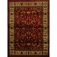 @Overstock - Decorate in style with this contemporary yet elegant area rug made of soft heat-set yarn that satisfies any taste. Colors are a combination of beige, black, red and green that go well with any style. Your feet will love the luxury of soft and rich pile.http://www.overstock.com/Home-Garden/Contemporary-Red-Ivory-Heat-Set-Rug-78-x-104/6822069/product.html?CID=214117 $161.99