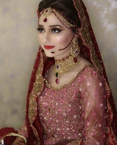 Latest Bridal Dresses, Muslim Wedding Dresses, Bridal Outfits, Pakistani Bridal Makeup Hairstyles, Pakistani Wedding Dresses, Indian Bridal Photos, Bridal Pictures, Bridal Makeup Looks, Bridal Looks