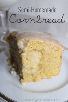 My Grandma's AMAZING semi-homemade cornbread recipe! No one you make this for would believe how easy it is to make.. to die for good!