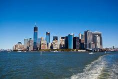 NYC skyline from Staten Island ferry