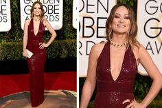 Los mejores looks de los Globos de Oro 2016  Olivia Wilde fue una de las más elogiadas de la noche con un vestido de Michael Kors. Foto: Agencias AFP, Reuters, EFE, AP