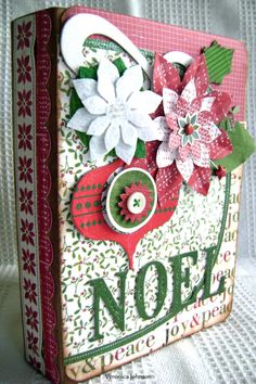 Christmas Scrapbook Mini Premade Album  NOEL  by kitsnbitscraps