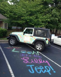 Lilly Pulitzer jeep. Ross Melton, will you buy this for me?