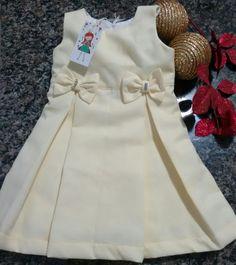 Vestido Amarelo c/ Lacinhos