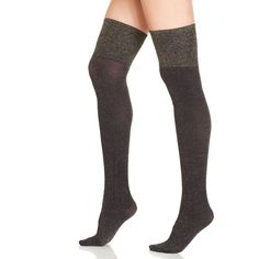 Pretty Polly Sparkle Rib Over The Knee Boot Socks ($25) ❤ liked on Polyvore featuring intimates, hosiery, socks, black, black socks, hanes hosiery, ribbed over the knee socks, sparkle hosiery and pretty polly