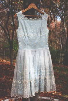 Vintage Dress.     Coming Soon: Vintage Dress - Zooey Deschanel, Taylor Swift Style. Lace, Embroidery, Baby Blue, Scalloped, Beautiful, Timeless Dress.