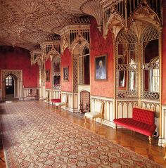 Strawberry Hill, H. Gothic Revival Architecture, English Architecture, Historical Architecture, Strawberry Hill House, Hill Interiors, Castle Wall, Grand Homes, Gothic House, Historic Homes