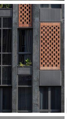 Gallery of Arghavan Family Apartment / Alidoost & partners – 4 Galerie von Arghavan Family Apartment / Alidoost & Partner – 4 Brick Design, Facade Design, Exterior Design, Brick Facade, Facade House, Building Facade, Building Design, Building Skin, Architecture Résidentielle