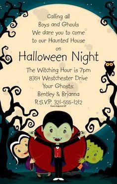 Halloween Boys & Ghouls Party Invitation #halloween #party #fun #invitation #event #fall #autumn #pinterest #invitationbox #design #interesting #monster