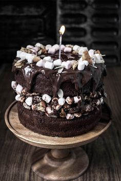 rocky road  filled chocOlate cake