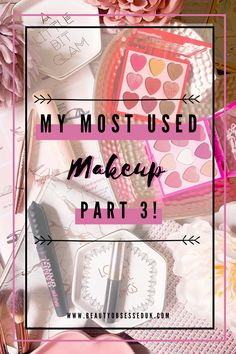 My Most Used Makeup Part 3! [ Beauty Obsessed ] Full Makeup, Lots Of Makeup, Full Brows, Pink Palette, Eyeliner Looks, Normal Person, Lower Lashes, Bad Gal, Going On Holiday