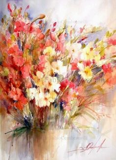 Flowers A/G, painting by artist Fabio Cembranelli