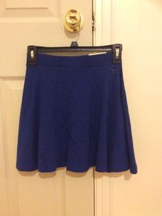 Victoria's Secret Pink Navy Color High Waist Skirt Size XS NEW #VictoriaSecretPink #ALine