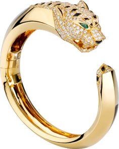 Panthère de Cartier bracelet Yellow gold, diamonds, emeralds, onyx
