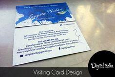 #VisitingCard #Design #WaterSplash #Digitaltadka #Graphic&WebStudio #Branding #BusinessCards