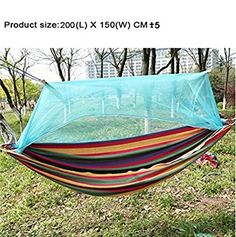riorand portable camping hammock mosquito net outdoor hammock travel bed lightweight parachute fabric double hammock