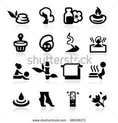 Spa icons set elegant series - stock vector