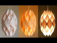 (4) DIY lamp (Eternal flame) - learn how to make a paper lampshade/lantern - EzyCraft - YouTube