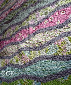 really beautiful color choices and design - it would be so restful to sleep under (Nicey Jane Wave Quilt 1)