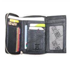 Karla Hanson - Black Women's Wallet - $54.99/each This Ladies Fashion Wallet is made from cow leather with a golden finish, approximately 13 x 2 x 10.5 cm. Presented by  www.ecomcreator.com Fashion Wallet, Ladies Fashion, Womens Fashion, Wallets For Women Leather, Cow Leather, Leather Wallet, Burgundy, Purple, Lady