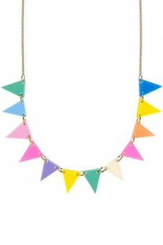Bunting Necklace - fluoro lite