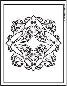 Fuzzy has scores of Irish and Scottish Celtic coloring pages with Celtic knot designs - the coolest tangles. PDF Celtic printables: crosses, geometric, animals, birds, and hearts. Crayola Coloring Pages, Jesus Coloring Pages, Horse Coloring Pages, Pattern Coloring Pages, Colouring Pages, Adult Coloring Pages, Coloring Sheets, Coloring Books, Mandala Coloring